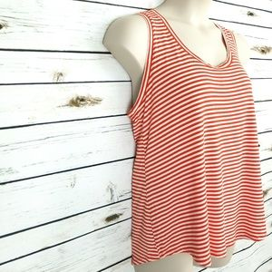 211073d7f6 Ava   Viv Tops - Womens Tank Top 2 Shirts Orange Blue Striped ...